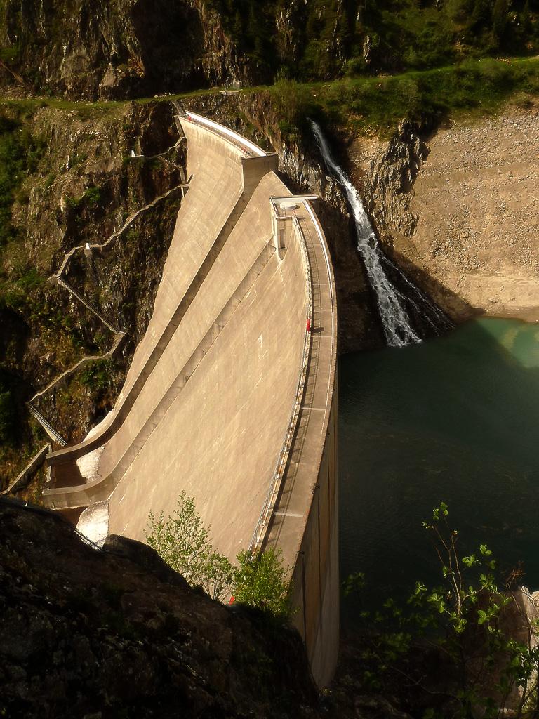 galerie de photographies   le barrage de la gittaz  dans