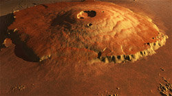 Le Mont Olympe dans Mars Render HD