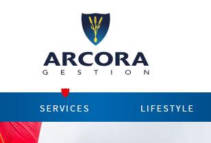 Survol de la navigation principale du site Arcora