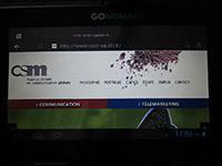 CSM sur la tablette Go-Nomad