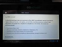 Un rendu de dégradé CSS3, catastrophique sur la tablette Go-Nomad