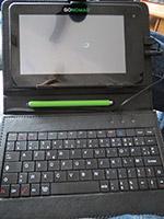 La tablette Go-Nomad et son clavier