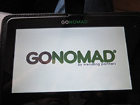 Écran d'accueil de la tablette Go-Nomad