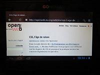 OpenWeb sur une tablette Go-Nomad