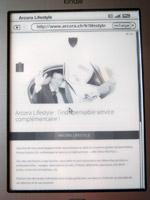 Un rendu de dégradé sur Kindle