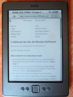 Mon site personnel sur un Kindle