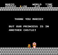 Fin de niveau Super Mario Bros 1 NES