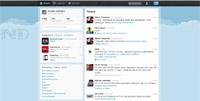 Interface de Twitter avant restylage express